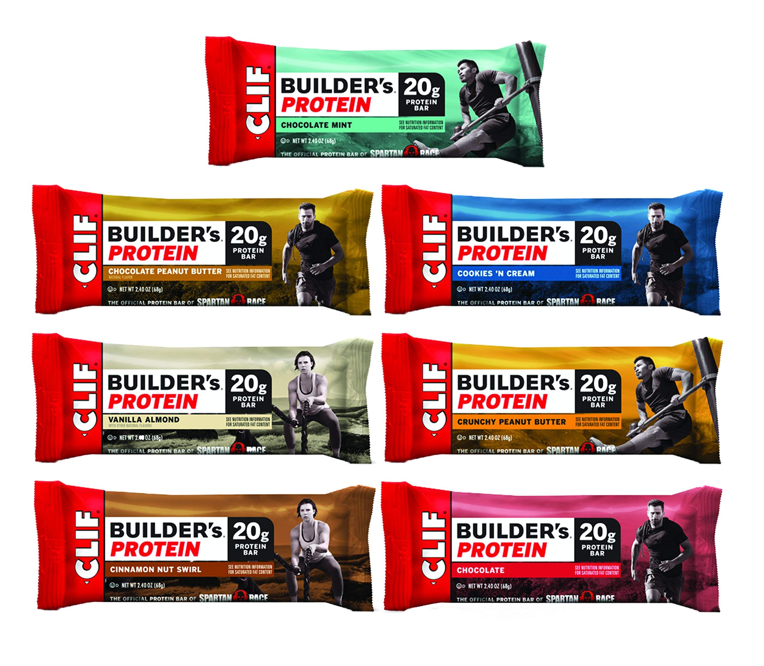 Clif Builder's - Protein bar - 7-Flavor Variety Pack - (2.4 oz Non-GMO bar, 14Count) by Clif Builder's