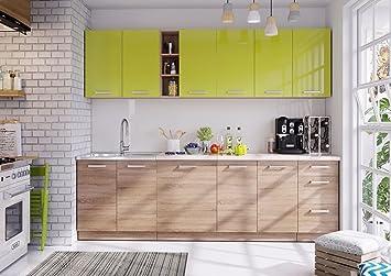 naka24 Komplett Küche LUNA260 Schränke mit Arbeitsplatte ...