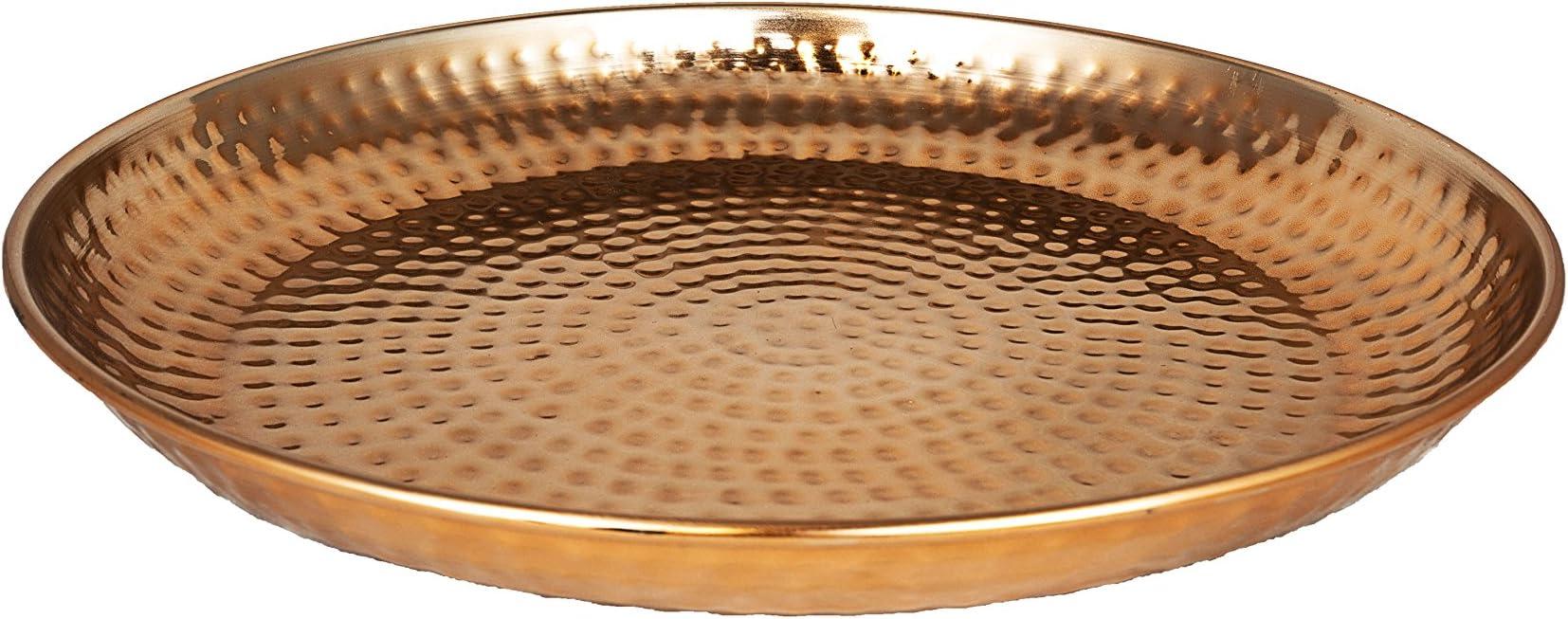 Marokkanischer Metall Deko Teller Schale Tablett Schwarz Orientalisch