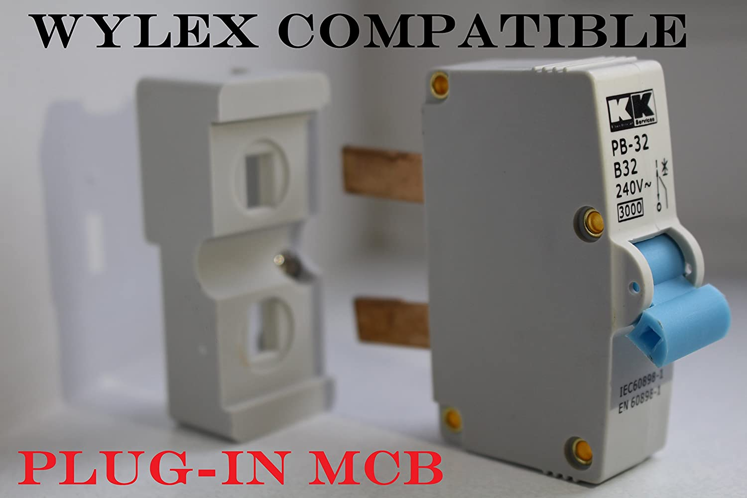 wylex plug in mcb compatible fuse 6 amp - 16 amp - 32 amp trip switch (32  amp): amazon co uk: business, industry & science