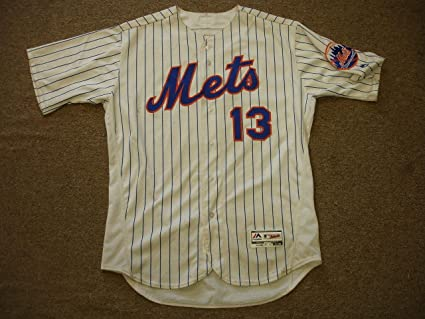 huge selection of a5511 54293 Asdrubal Cabrera Game Worn New York Mets #13 Home Jersey ...