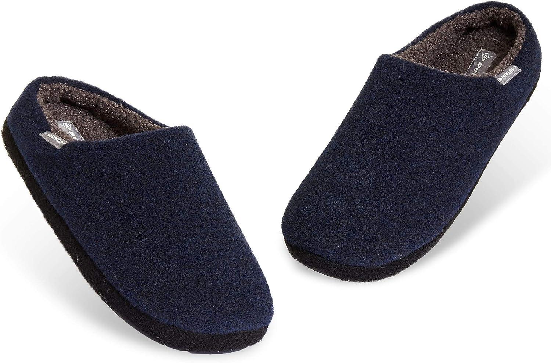 Dunlop Zapatillas Casa Hombre, Pantuflas Hombre De Forro Polar Suave, Zapatillas Hombre con Suela Antideslizante Interior Exterior, Regalos para Hombres y Chicos Adolescentes