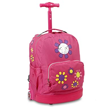 Amazon.com | J World New York Daisy Kids' Rolling Backpack | Kids ...