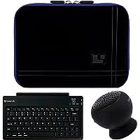SumacLife 8-Inch Tablet Sleeve para Samsung Galaxy Tab S2color negro con altavoz bluetooth & Teclado inalámbrico (Azul)