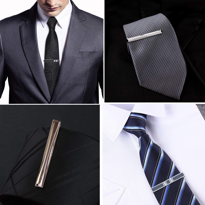 Coolty Pasador de Corbata,Hombre Corbatas Clips Pasador de Pisacorbatas Clips de Corbata Bar con Caja de Regalo(4pcs): Amazon.es: Ropa y accesorios