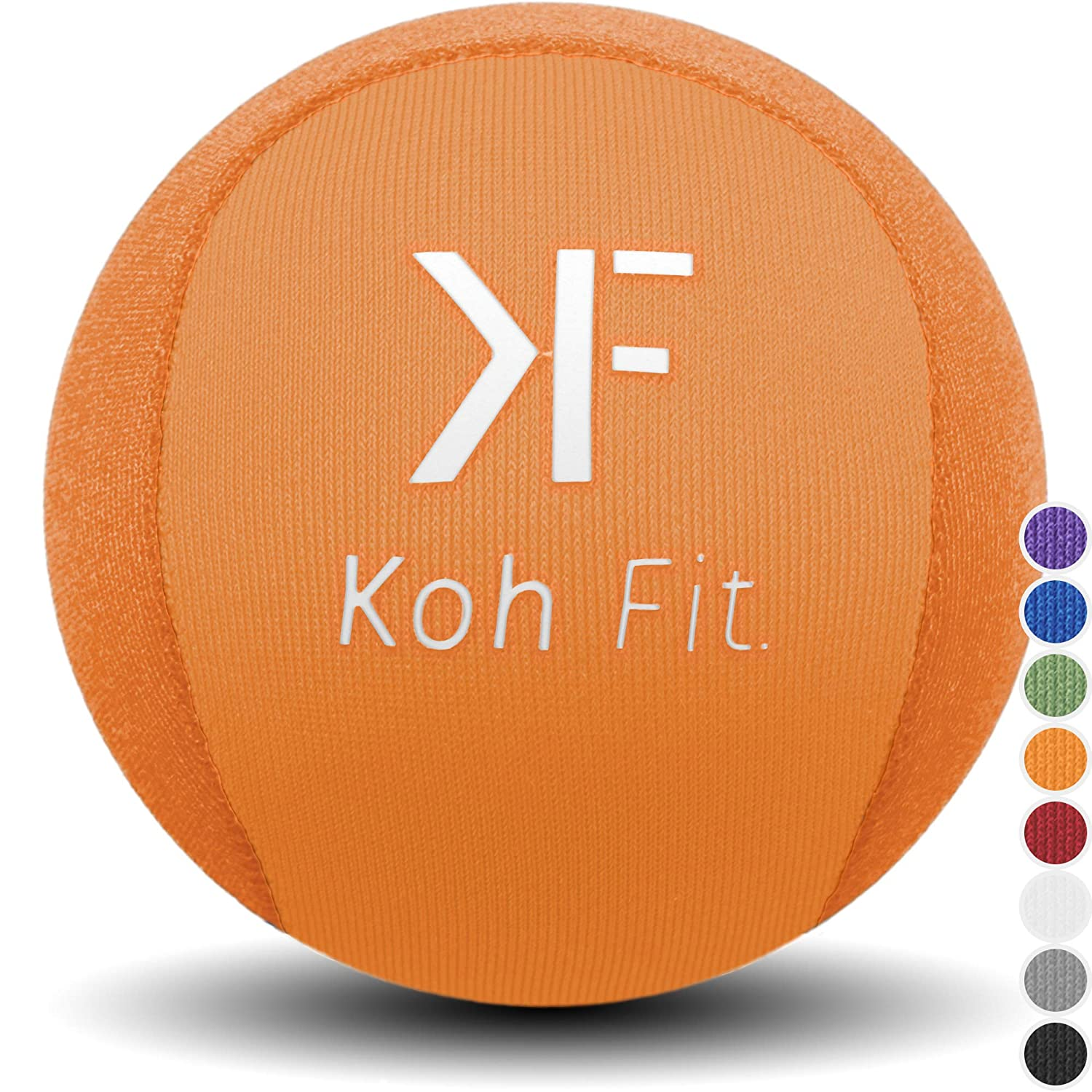 Koh Fit Stress Ball for Adults – Stress Reliever Squeeze Balls – 2 Bonus Ebooks Hand Therapy Exercise Guide Stress Relief Guide