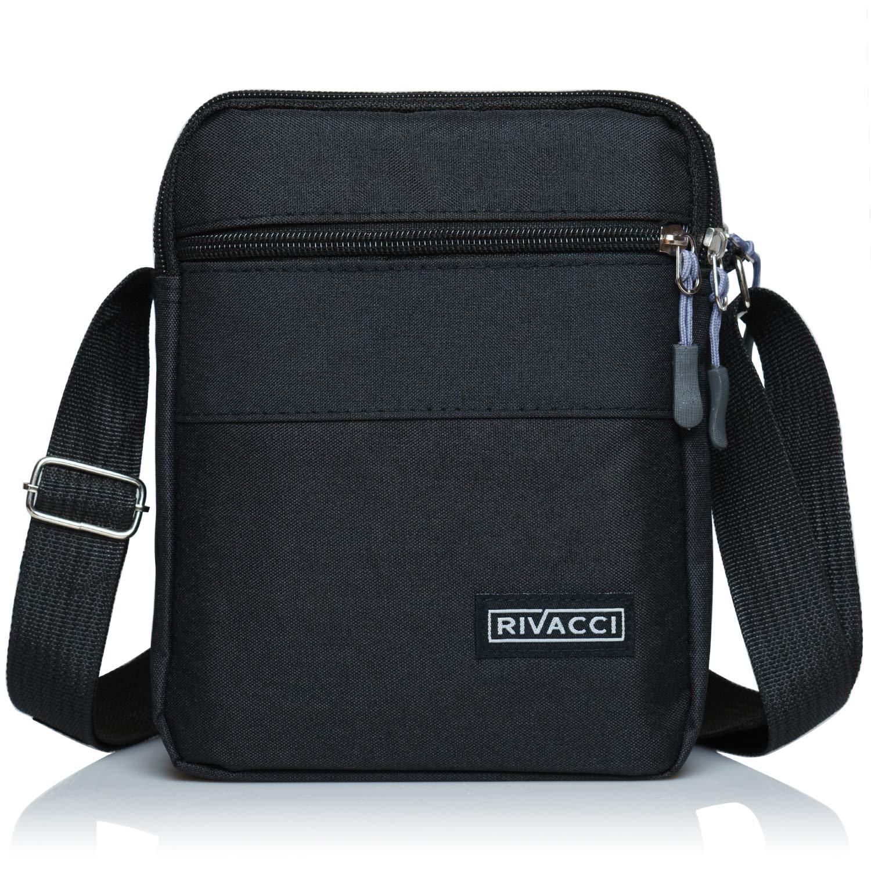 Koolertron Men Shoulder Bag Small Retro Canvas Satchel Zipped Unisex Lightweight