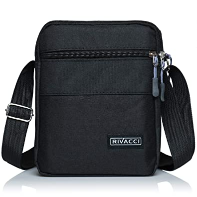 fa928ad319 Rivacci Men Shoulder Bag Crossbody Travel Messenger Bags Small Retro Canvas  Satchel Zipped Unisex Lightweight Long