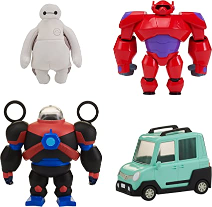 Amazon Com Big Hero 6 The Series Squish To Fit Baymax With Accessories Toys Games