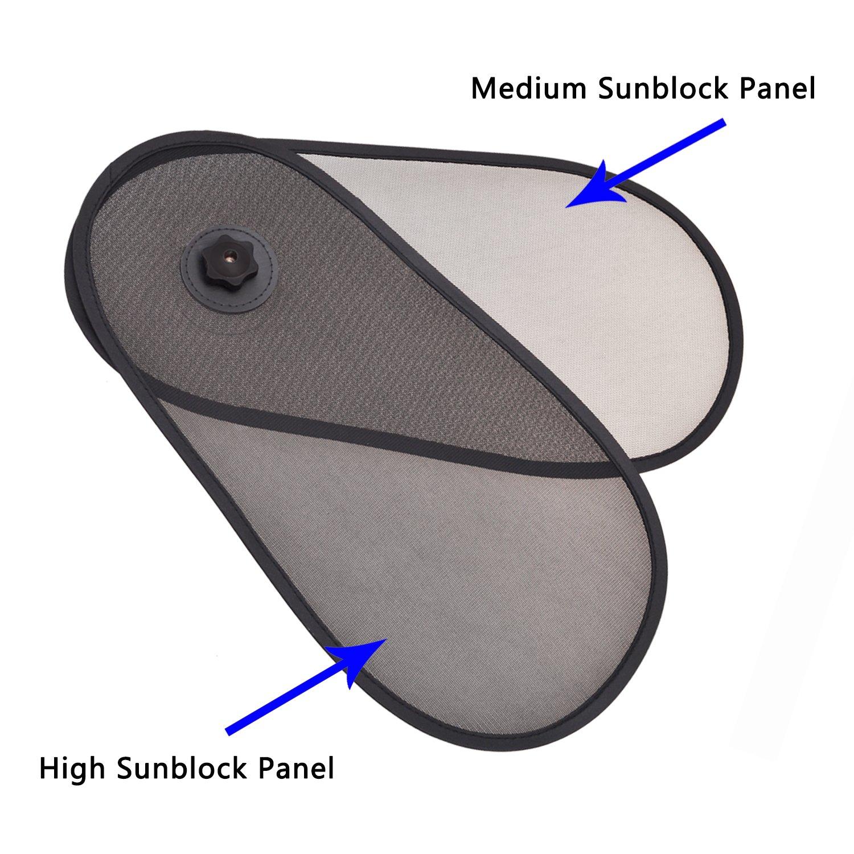 Reduce Glare from Side and Front Window WANPOOL Car Window Sun Shine Blocker