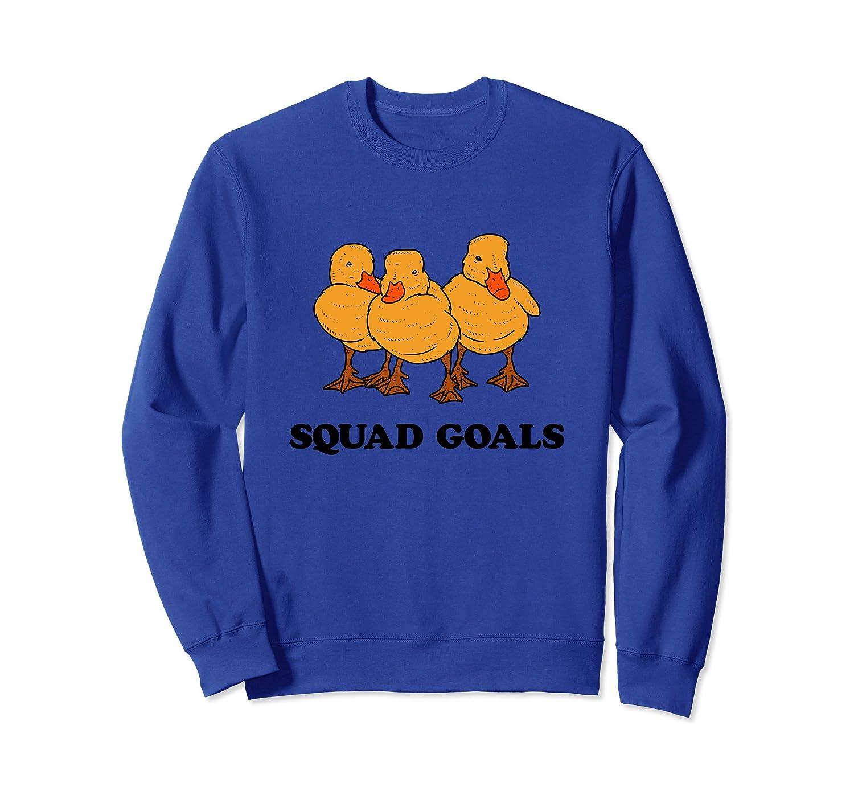 Cute Ironic Funny Ducks Sweatshirt Ducklings Squad Goals-AZP