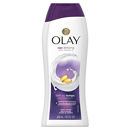 Body Wash for Women by Olay, Age Defying with Vitamin E Body Wash, 13.5 oz