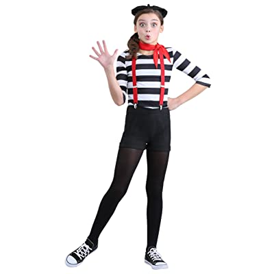 Girl's Mime Costume: Clothing