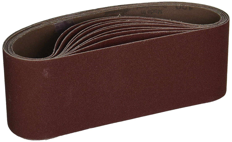 Shop-Tek 82067 3-Inch x 21-Inch 120 Grit Aluminum Oxide Sanding Belt, 10-Pack