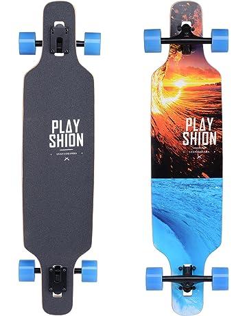 3df31e8f3f063 Playshion 39 Inch Drop Through Freestyle Longboard Skateboard Cruiser