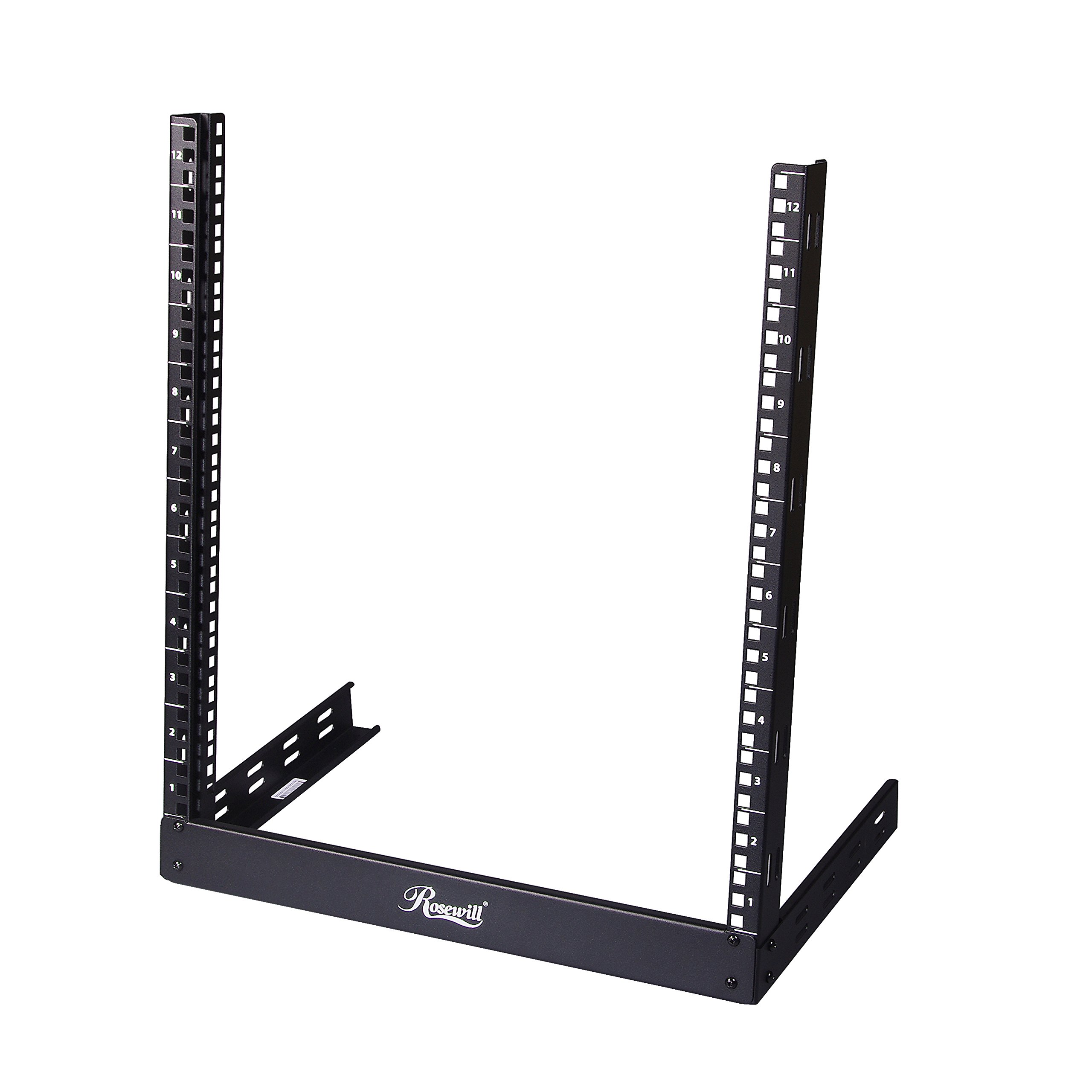 Rosewill 12U Server Rack, 19 Inch Desktop Open Frame 2 Post Server Desk Rack Free Standing (RSR-2P12U0001)
