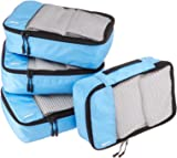 AmazonBasics Packing Cubes - Small (4-Piece Set), Sky Blue