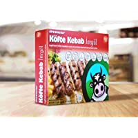 KÖFTE KEBAB İnegöl: Halal, Premium Black Angus Beef, All Natural, Grass Fed - 1.5 lbs, 16 pieces (Frozen)