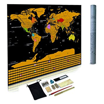 Scratch off world map scratch map with all country flags and scratch off world map scratch map with all country flags and accessory kit deluxe gumiabroncs Choice Image