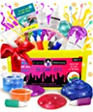 DIY Slime Kit for Girls Boys: Ultimate Slime Making Kit with Add Ins Supplies for Alien Egg Slime, Crystal, Glitter, Unicorn and More - Fun Slime Kits (Yellow, 44pcs)