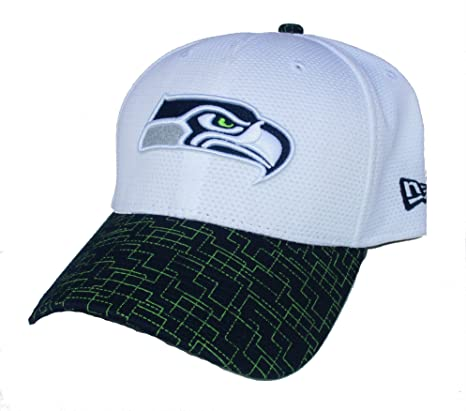 a90a7b4c84ae2 Amazon.com   Seattle Seahawks Flex Fit One Size Grid Bill Hat Cap ...