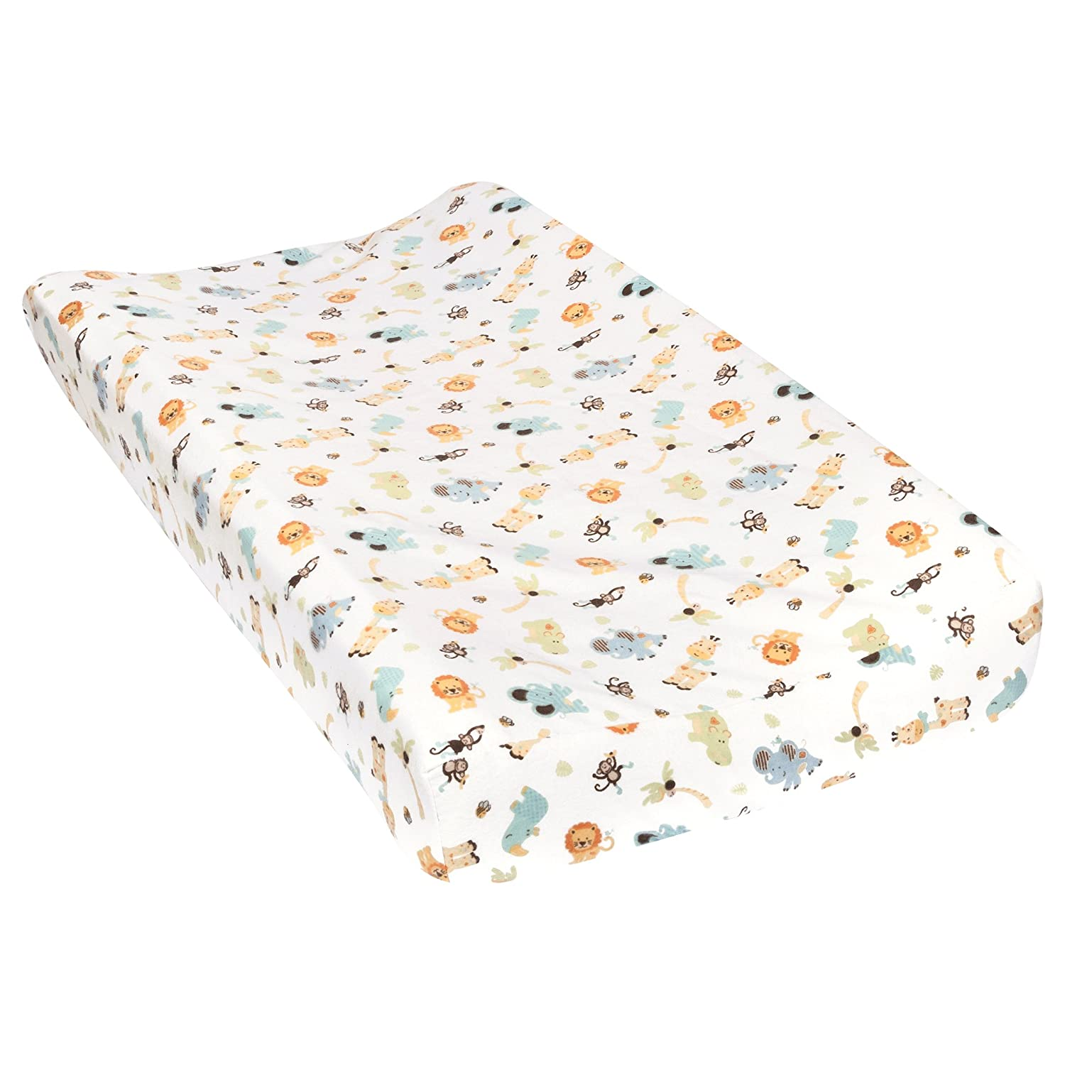 Trend Lab Jungle Friends Deluxe Flannel Changing Pad Cover 101389