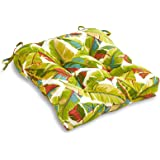 South Pine Porch AM4800-PALM-MULTI Palm Leaves Multi Outdoor 20-inch Seat Cushion