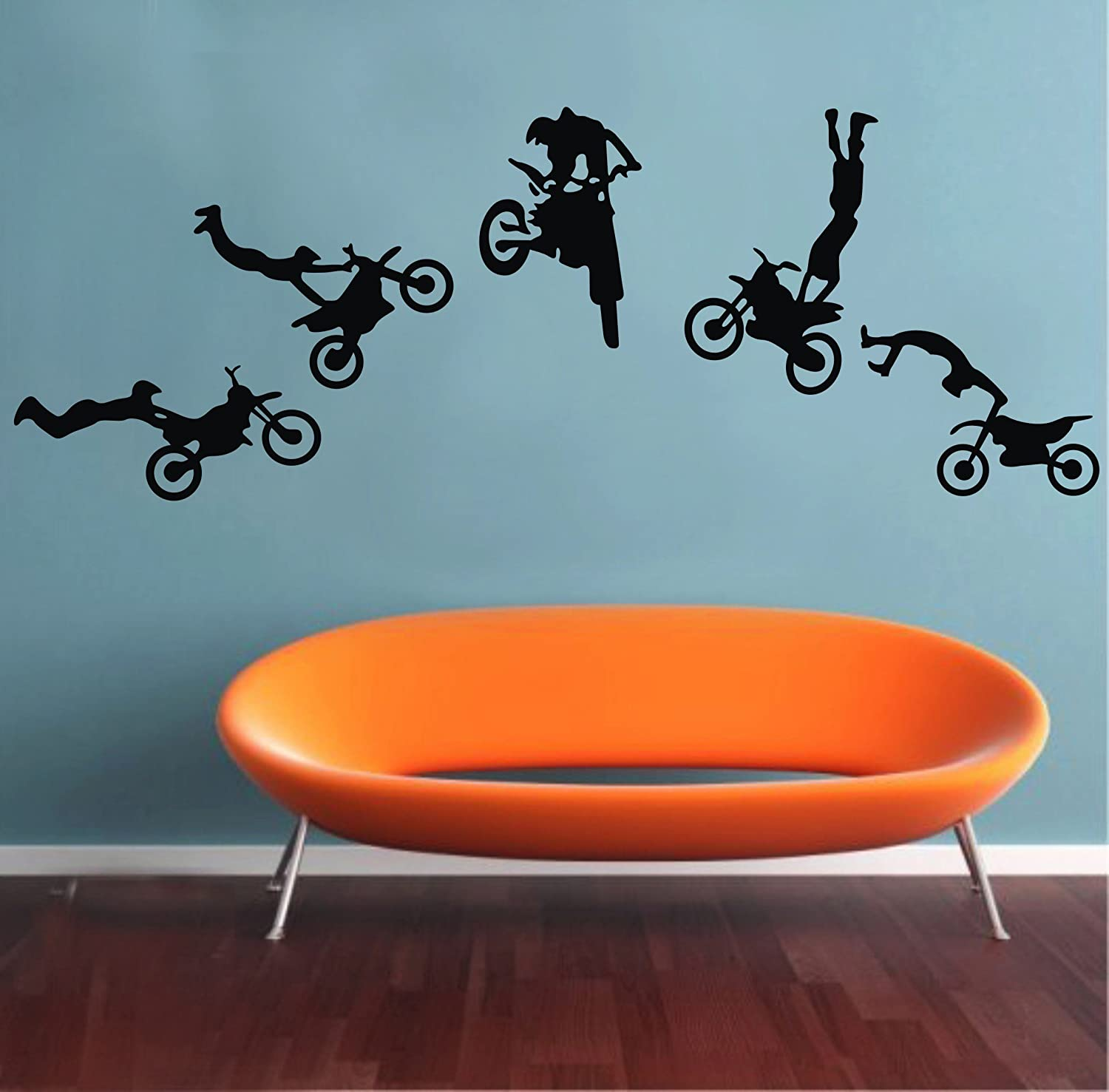 Attirant Amazon.com: Motocross Wall Decals Motocross Graphic Extreme Sport  Silhouette Removable Wall Art DIY Vinyl Wall Sticker: Baby