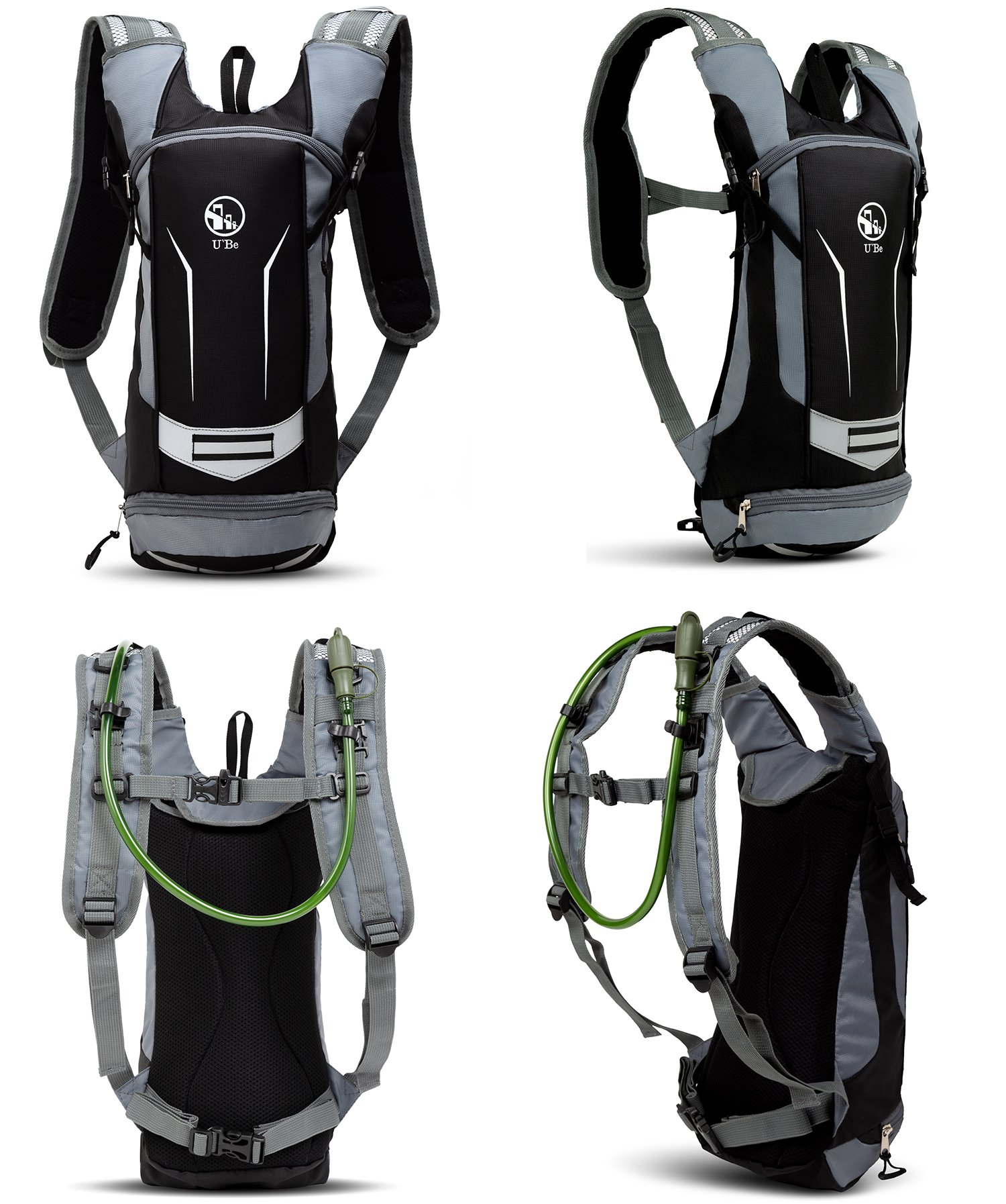 U`Be Hydration Pack - Hydration Backpack - Camel Pack Water Backpack with Insulated 2l Bladder for Women Men Kids Backpacking - Small Lightweight Water Reservoir for Running Hiking Cycling by U`Be (Image #3)