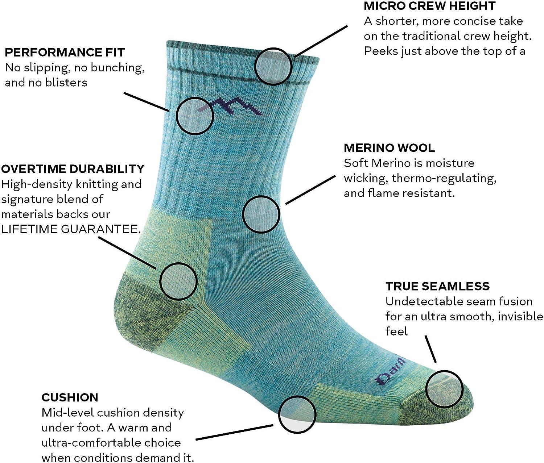 Darn Tough Hiker Micro Crew Midweight Sock with Cushion - Women's : Smartwool Men S Hiking Medium Crew Sock : Clothing