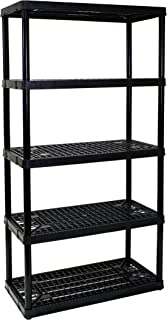 amazon com gracious living adjustable 5 shelf medium duty shelving rh amazon com Plastic Resin Adjustable Shelving adjustable plastic shelves