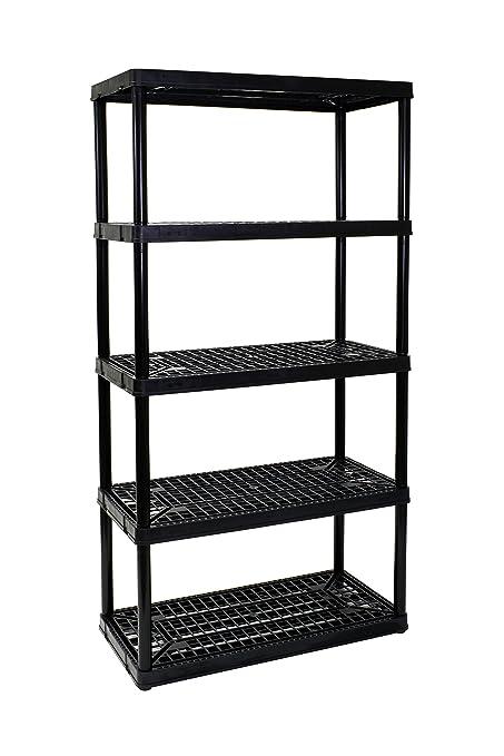 gracious living 5 shelf heavy duty shelf unit - Heavy Duty Bookshelves