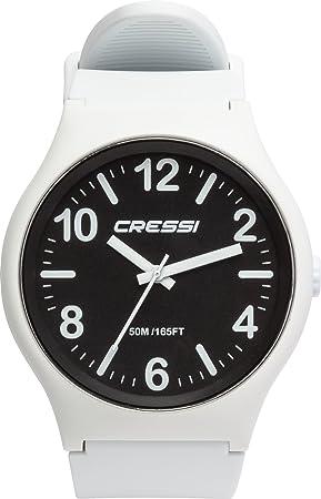 Cressi Watch Echo Reloj Analógico de Cuarzo, Unisex Adulto, Negro/Blanco, Uni: Amazon.es: Deportes y aire libre
