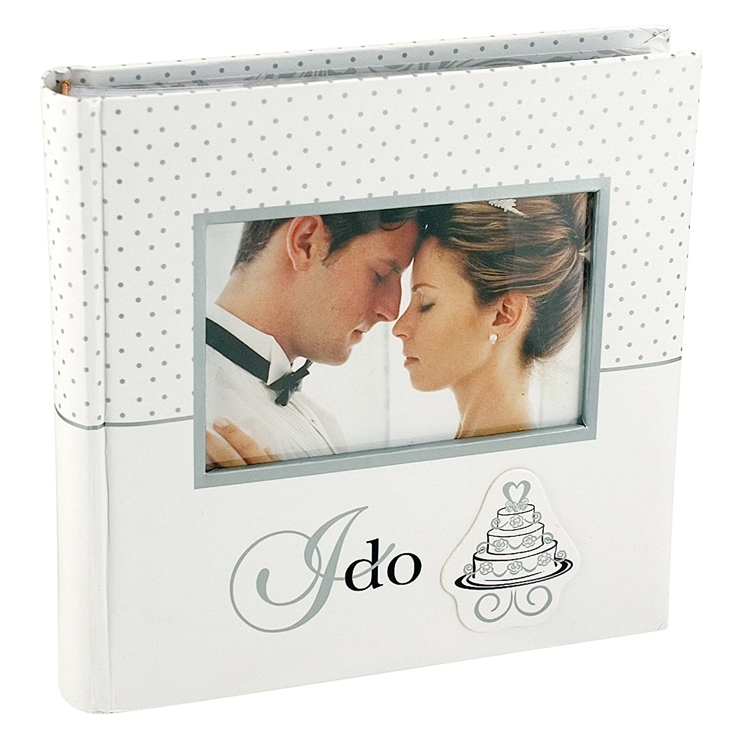 Malden International Designs I Do With Photo Opening Cover & Memo Space Photo Album, 1-Up, 100-4x6, White 6794-16