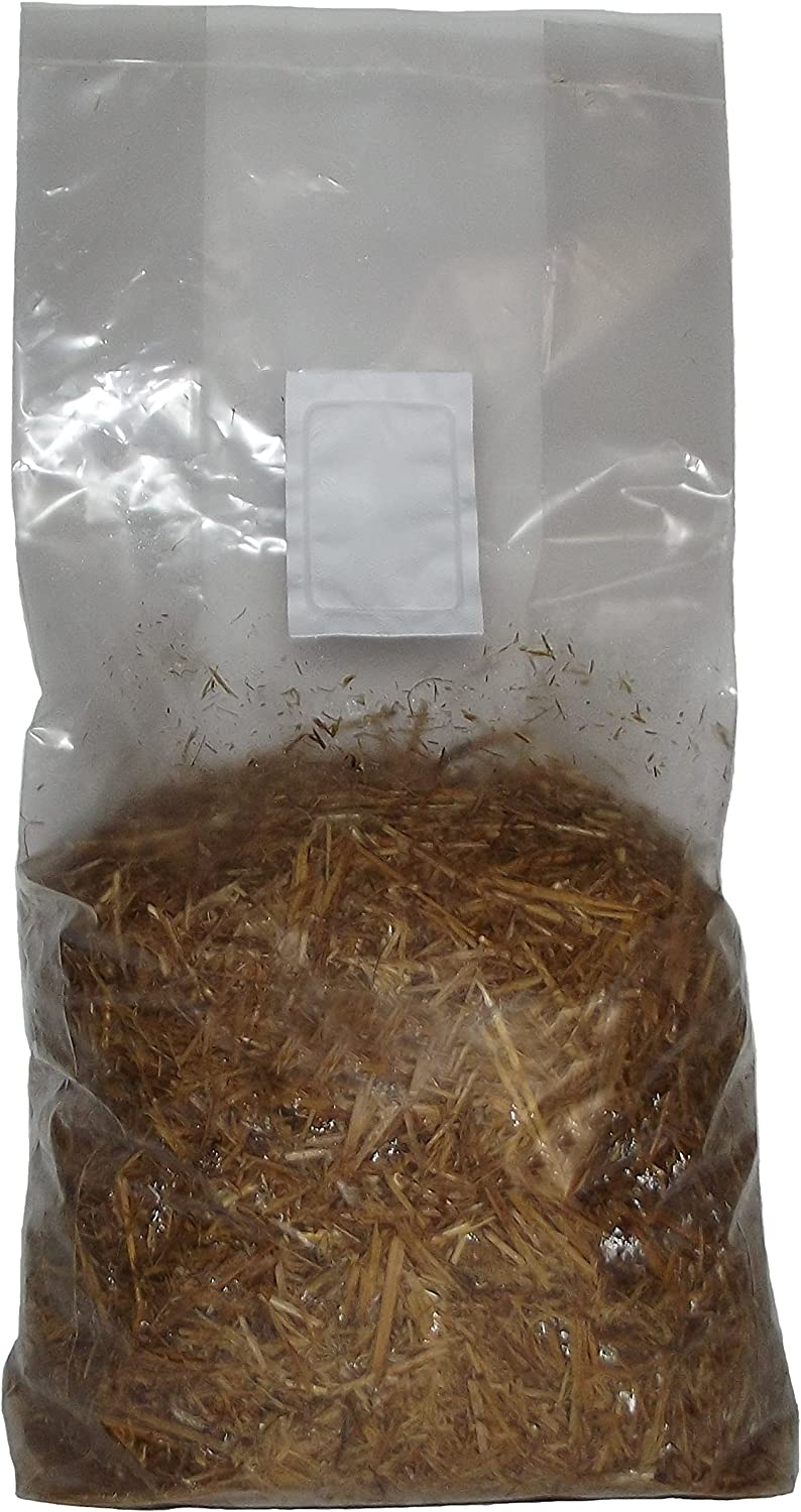 Pasteurized Straw Mushroom Growing Substrate 5 Pound Grow Bag