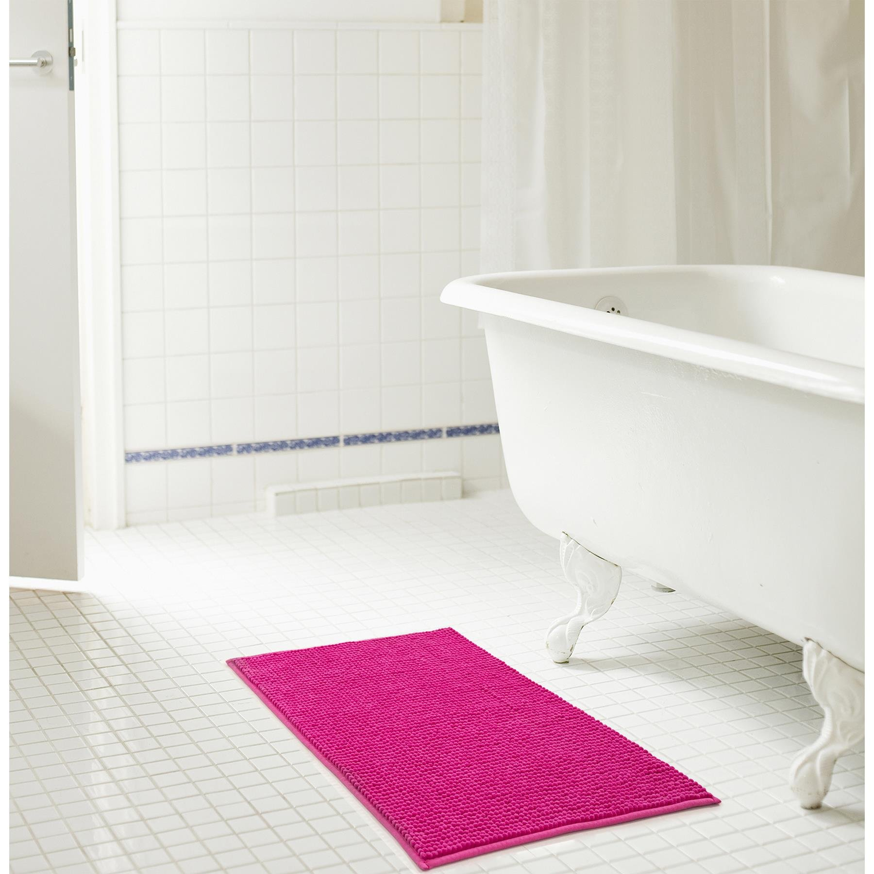 RT Designers Collection Kara Short Pile Chenille Bath Mat Set, 20'' x 32'', Fuschia