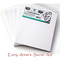 Daveliou Canvas Panels 8 x 10 inch - Art Pack of 10 Artist Canvas Panel Boards - Triple Primed Super Value for Painting