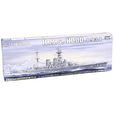 Trumpeter 1/700 HMS Hood British Battleship 1931 Model Kit: Toys & Games