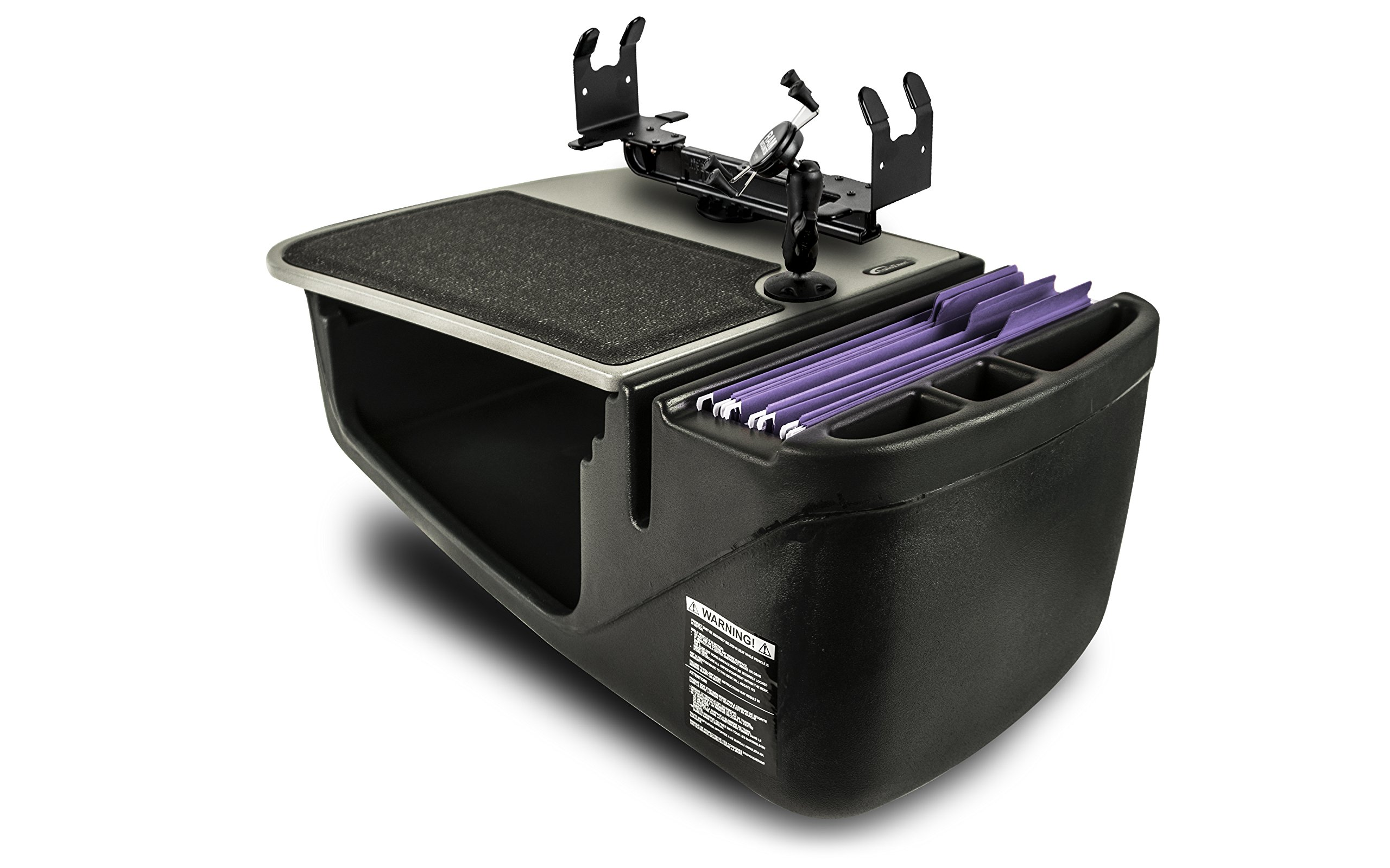 AutoExec AEGrip-02-PS-Phone Efficiency Car Desk (with Printer Stand and X-Grip Phone Mount), 1 Pack