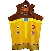 Hey Duggee Cbeebies 3D Ears Poncho Towel for Kids | One Size Hooded Bath Towelling Robe for Boys & Girls | Beach Swim…