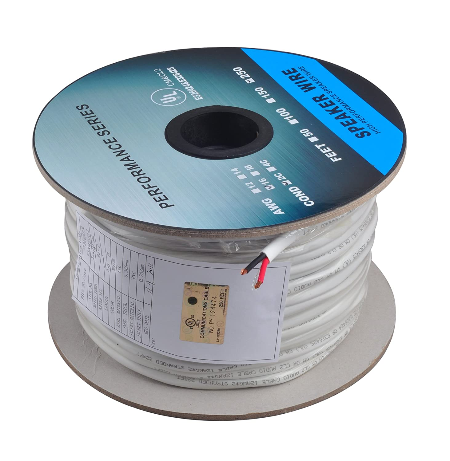 Amazon.com: C&E 500 feet, 14AWG 2 Conductor Solid Copper, Oxygen ...