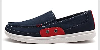 Surprising Day New Male Washed Denim Casual Doug Peas slip on Shoes Foot Pedal Shoes Lazy Fashion Canvas Flats Driving loafer Zapatos Hombre