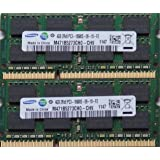 Samsung ram memory 8GB kit, (2 x 4GB), DDR3 PC3 10600, 1333Mhz, 204 PIN, SODIMM for laptops (low voltage 1.35)