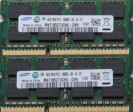 Memory Stick Ram Set DDR3 PC3-12800S 1333MHz DIMM 204 pin Samsung 8GB 2 x 4GB