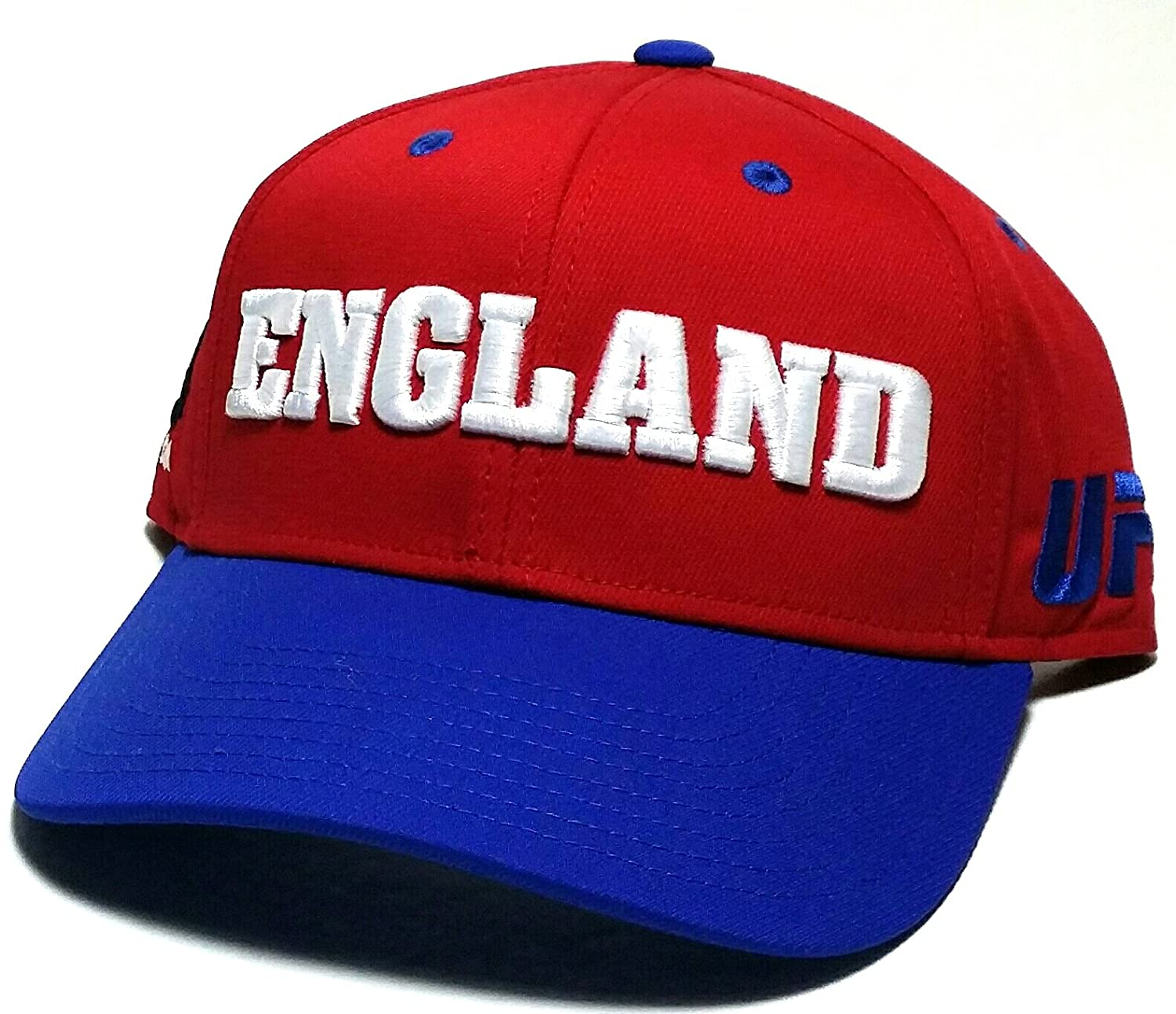 f1e3790e9b9f11 Amazon.com : UFC Reebok MMA Red White Blue England UK Country Pride  Adjustable Snapback Hat Cap : Sports & Outdoors