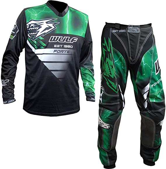 Wulfsport 2020 Forte Adult Motorbike Sport Suit Motorcycle Motorcross Racing Shirts Trousers Black Shirt XL
