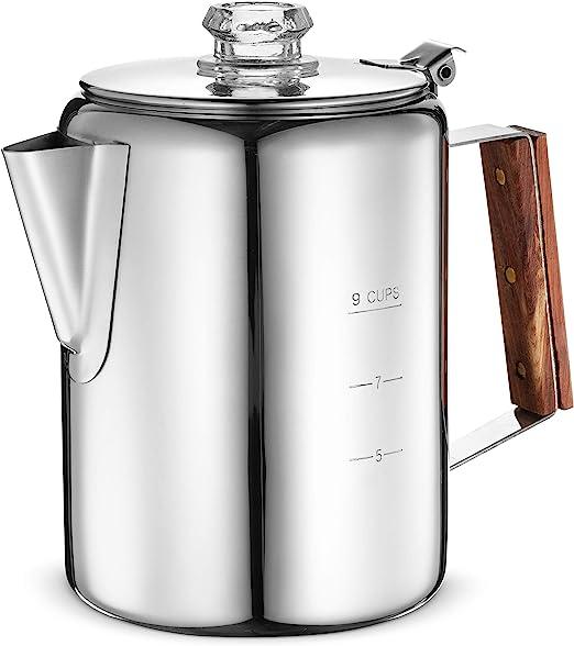 Amazon.com: Eurolux - Cafetera de percolador – 9 tazas ...