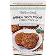 Lactation Cookie Mix (USDA Organic Certified) with Oats, Brewer's Yeast, and Flaxseed to Promote a Healthy Supply of Breast Milk in Nursing Mothers (Oatmeal Chocolate Chip) 16 oz.