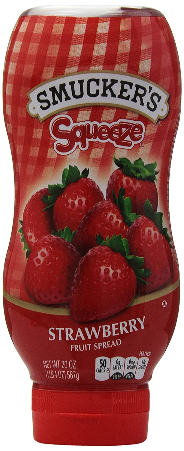 amazon com smucker u0027s squeeze strawberry fruit spread 20 oz