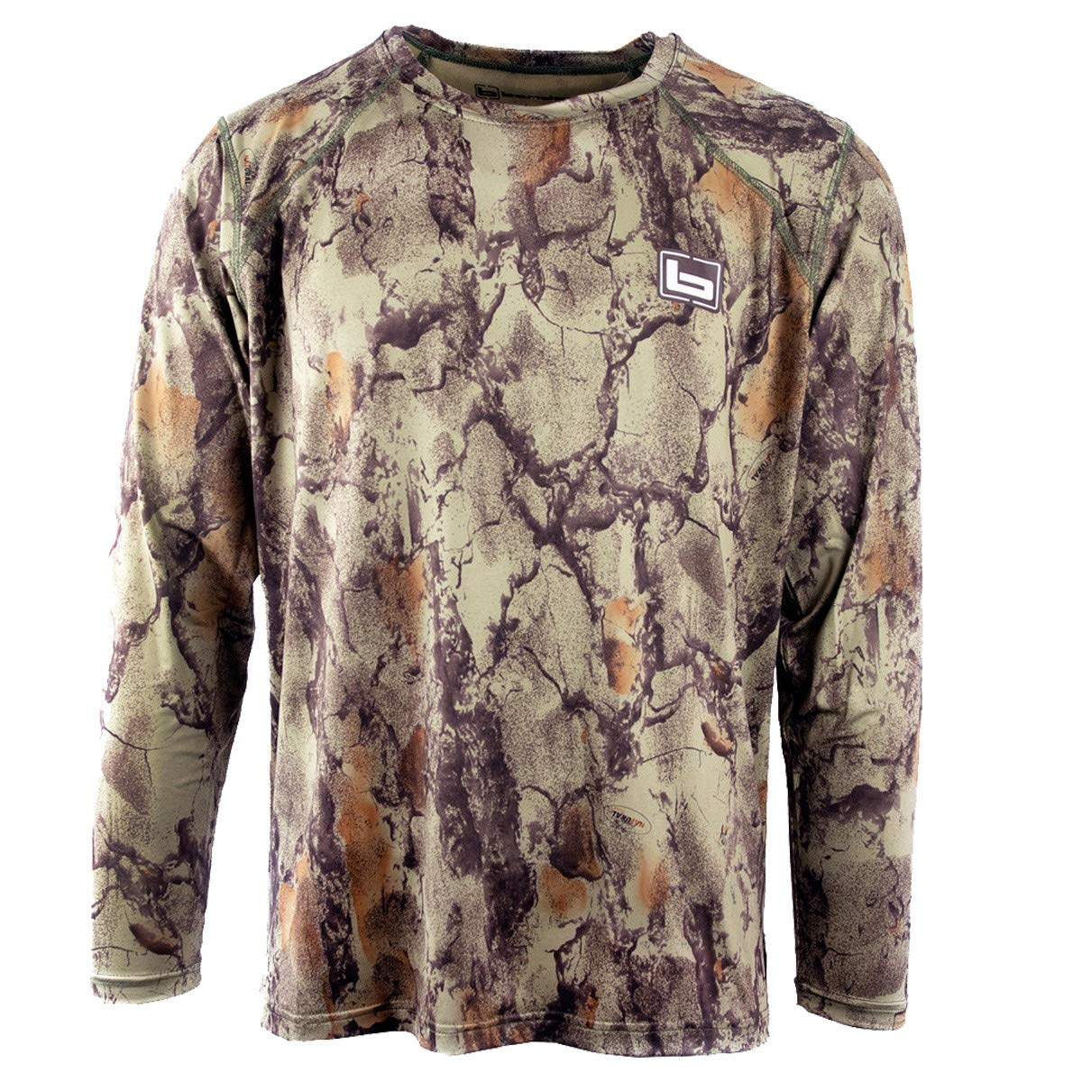 Banded Tech Stalker Mock Shirt Natural Gear Extra Large by Banded